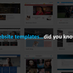 website templates, did you know?